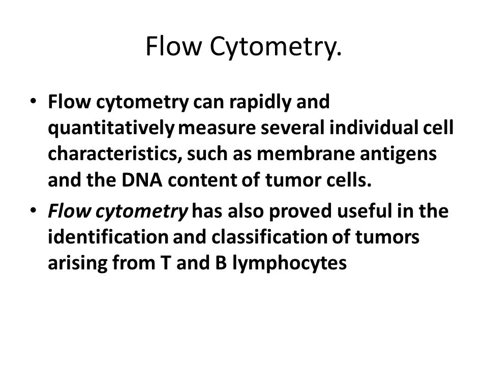 Flow Cytometry.
