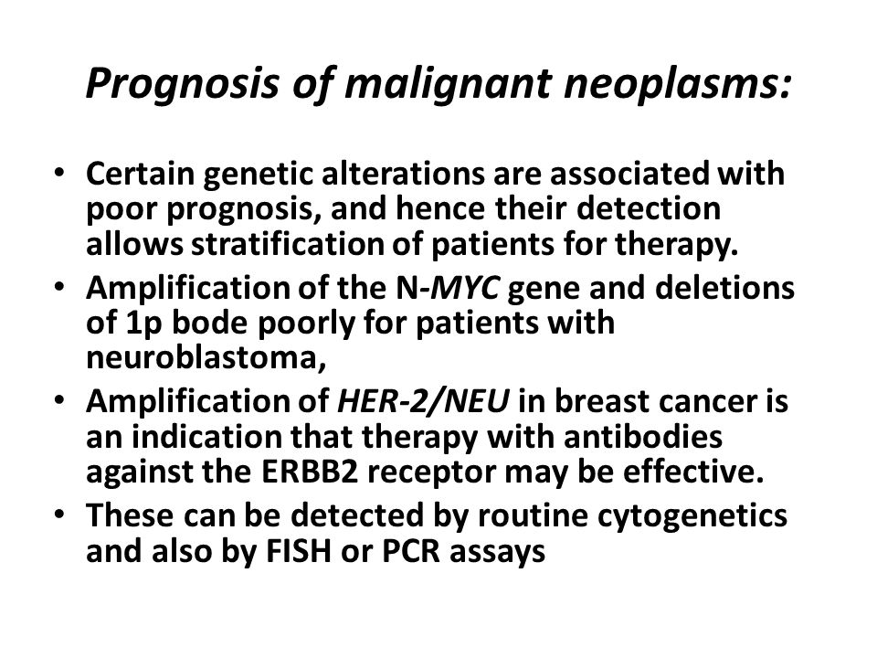 Prognosis of malignant neoplasms: