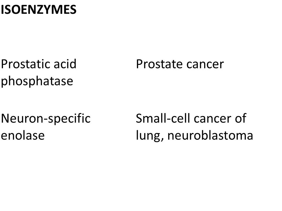 ISOENZYMES Prostatic acid phosphatase. Prostate cancer.