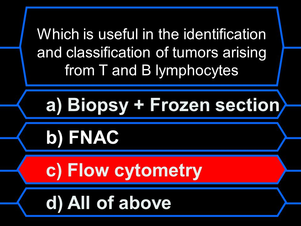 a) Biopsy + Frozen section