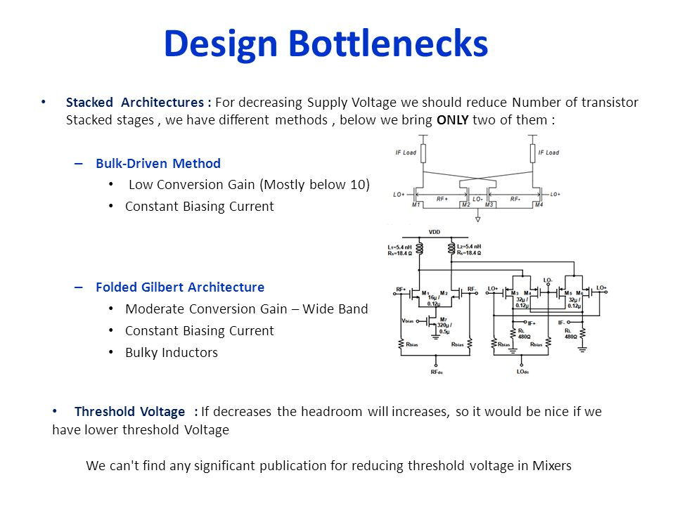 Design Bottlenecks