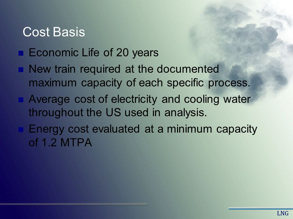 Cost Basis Economic Life of 20 years