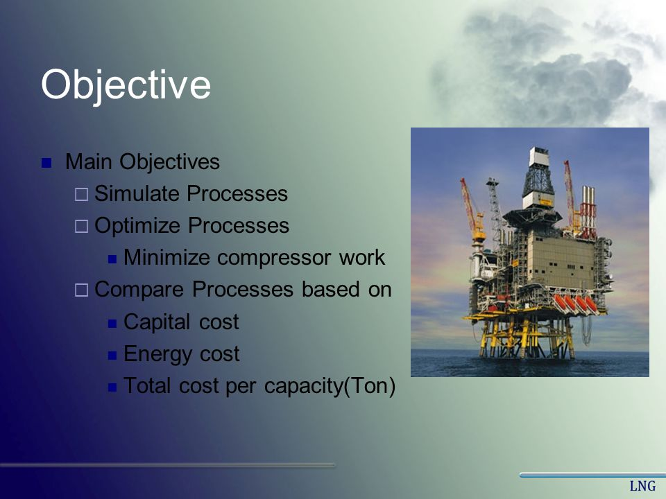 Objective Main Objectives Simulate Processes Optimize Processes