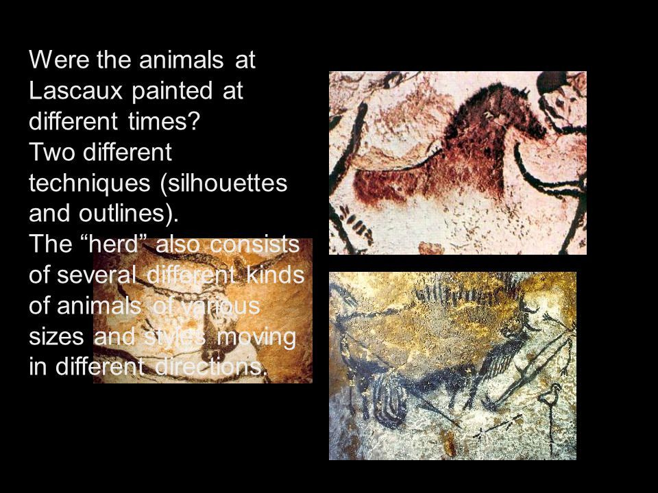 Were the animals at Lascaux painted at different times