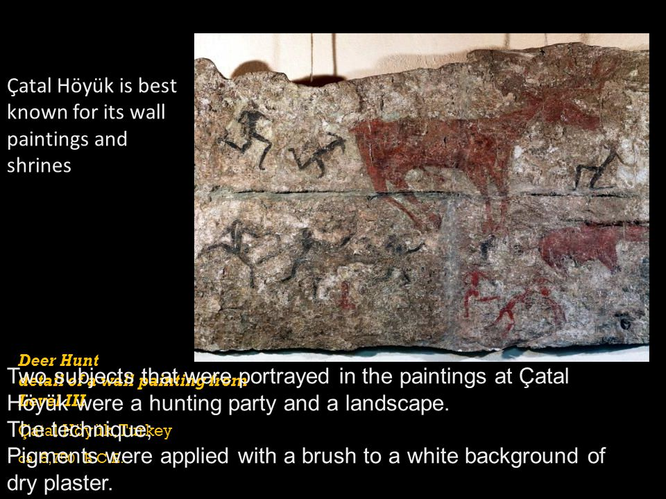 Çatal Höyük is best known for its wall paintings and shrines