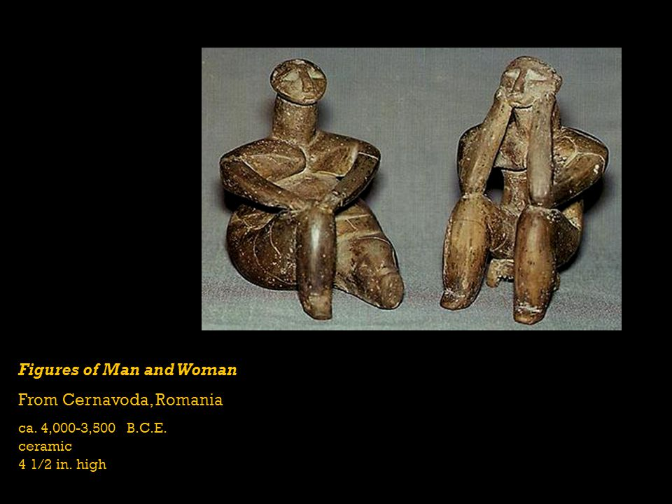 Figures of Man and Woman From Cernavoda, Romania