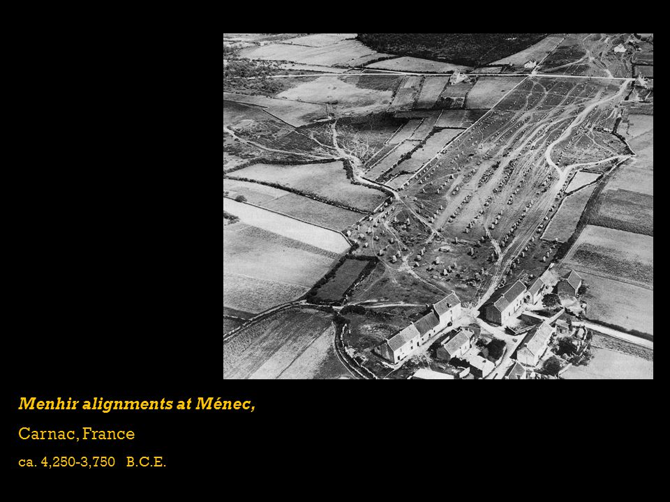 Menhir alignments at Ménec, Carnac, France