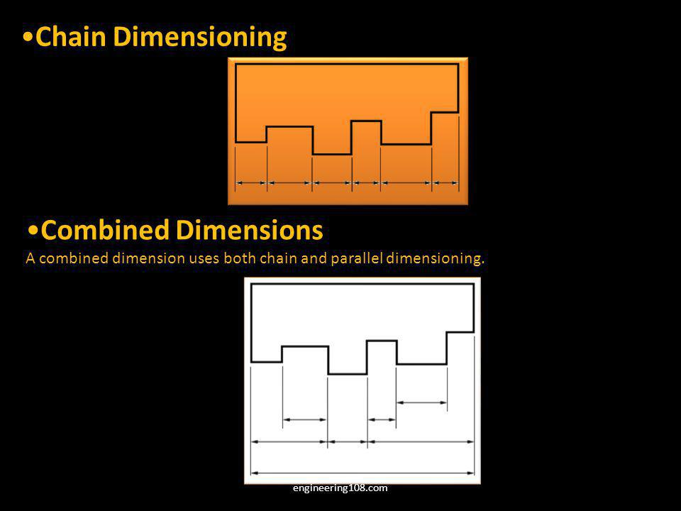 Chain Dimensioning Combined Dimensions