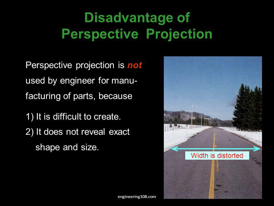 Disadvantage of Perspective Projection