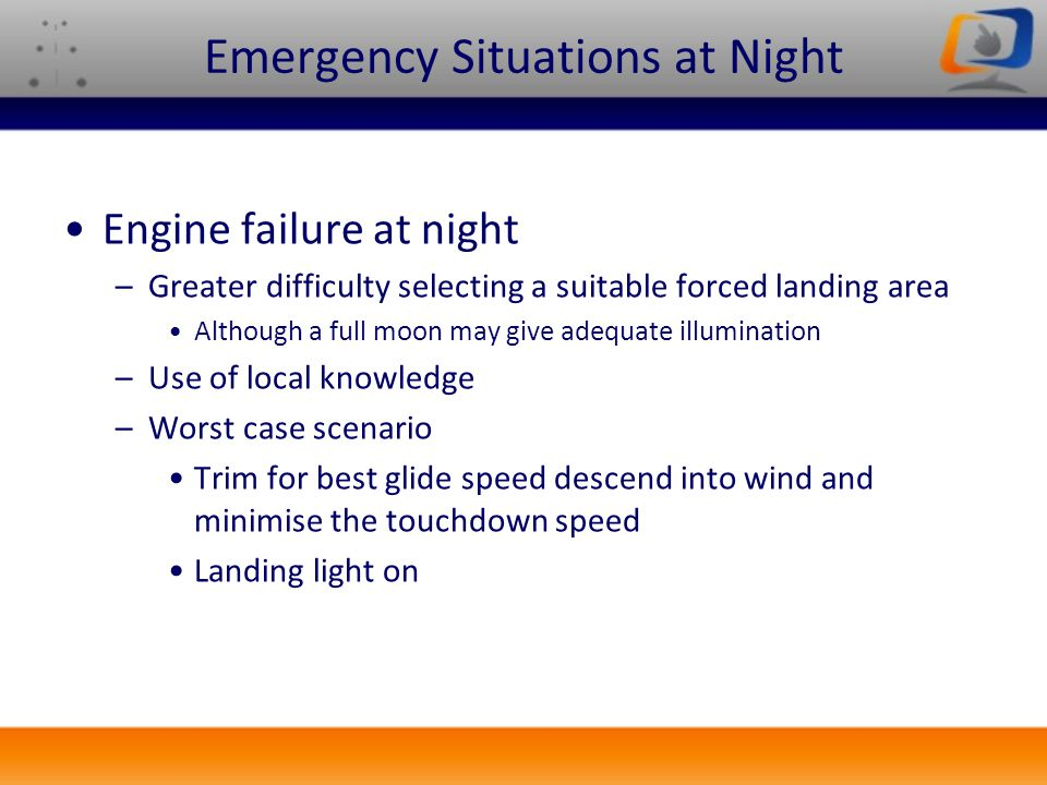 Emergency Situations at Night