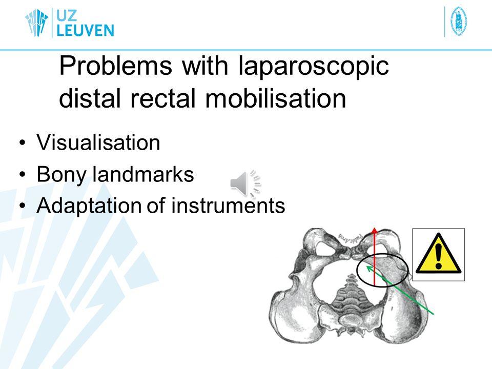 Problems with laparoscopic distal rectal mobilisation