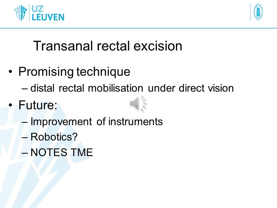 Transanal rectal excision