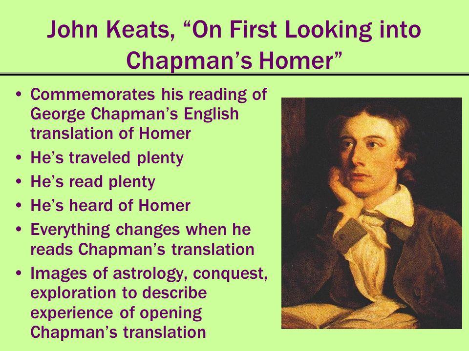 John Keats, On First Looking into Chapman's Homer