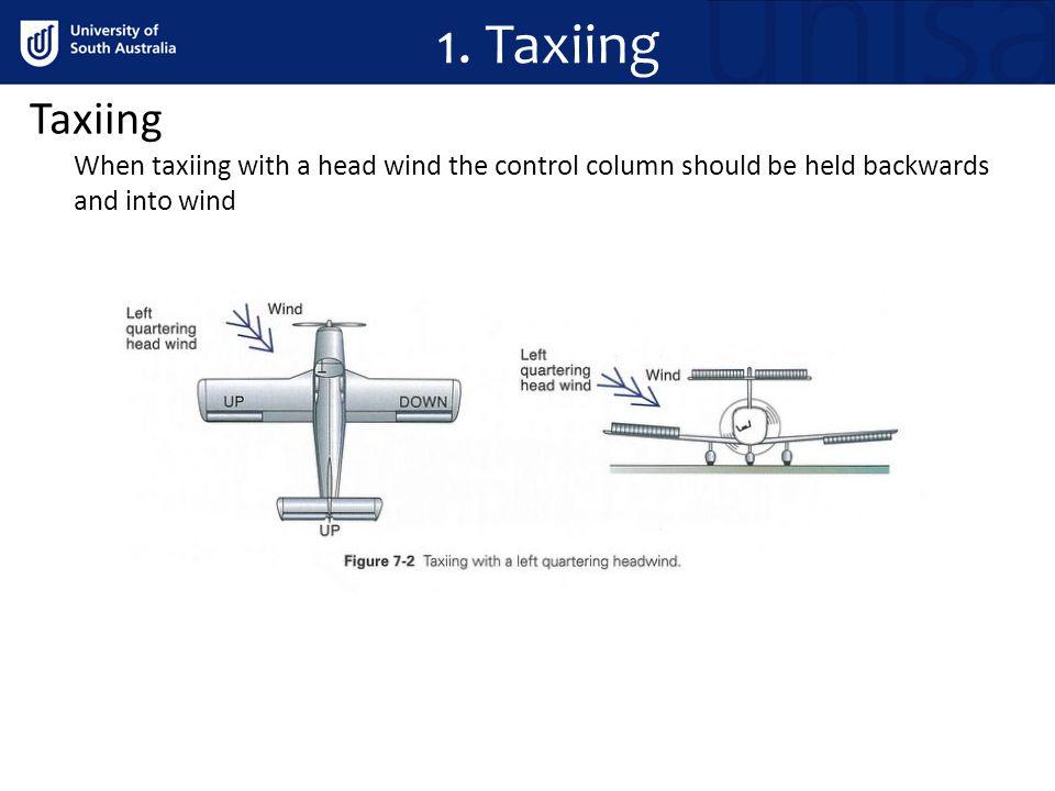 1. Taxiing Taxiing.