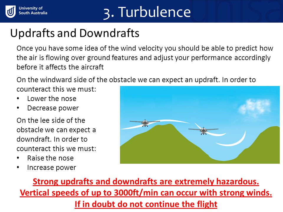 3. Turbulence Updrafts and Downdrafts