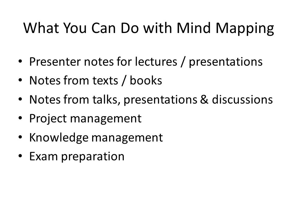 What You Can Do with Mind Mapping