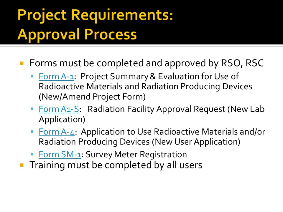 Project Requirements: Approval Process