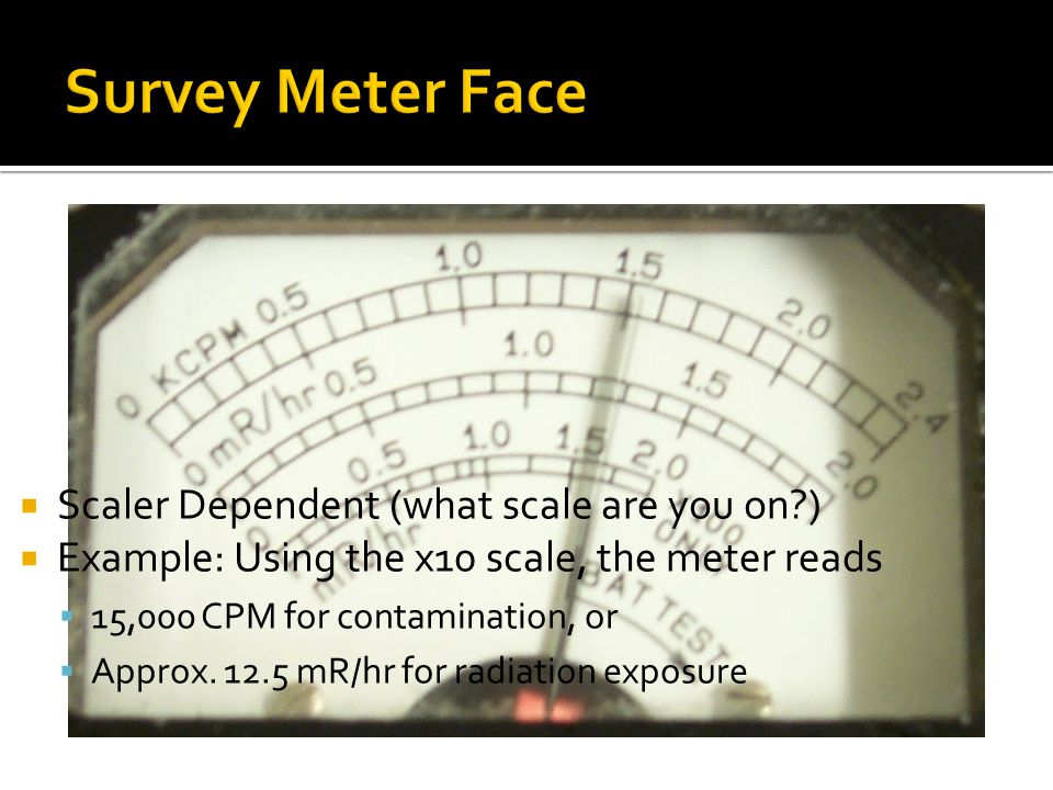 Survey Meter Face Scaler Dependent (what scale are you on )