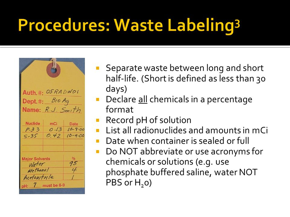Procedures: Waste Labeling3