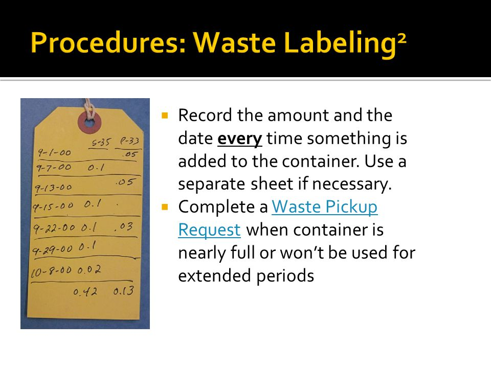 Procedures: Waste Labeling2