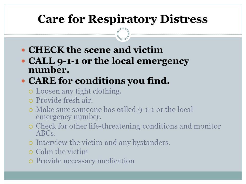 Care for Respiratory Distress