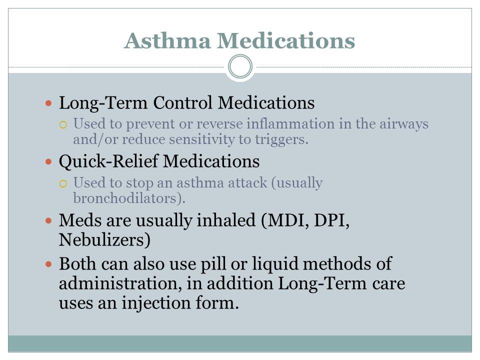 Asthma Medications Long-Term Control Medications