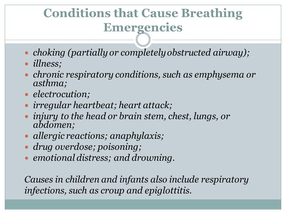 Conditions that Cause Breathing Emergencies
