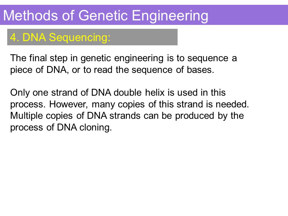 Methods of Genetic Engineering