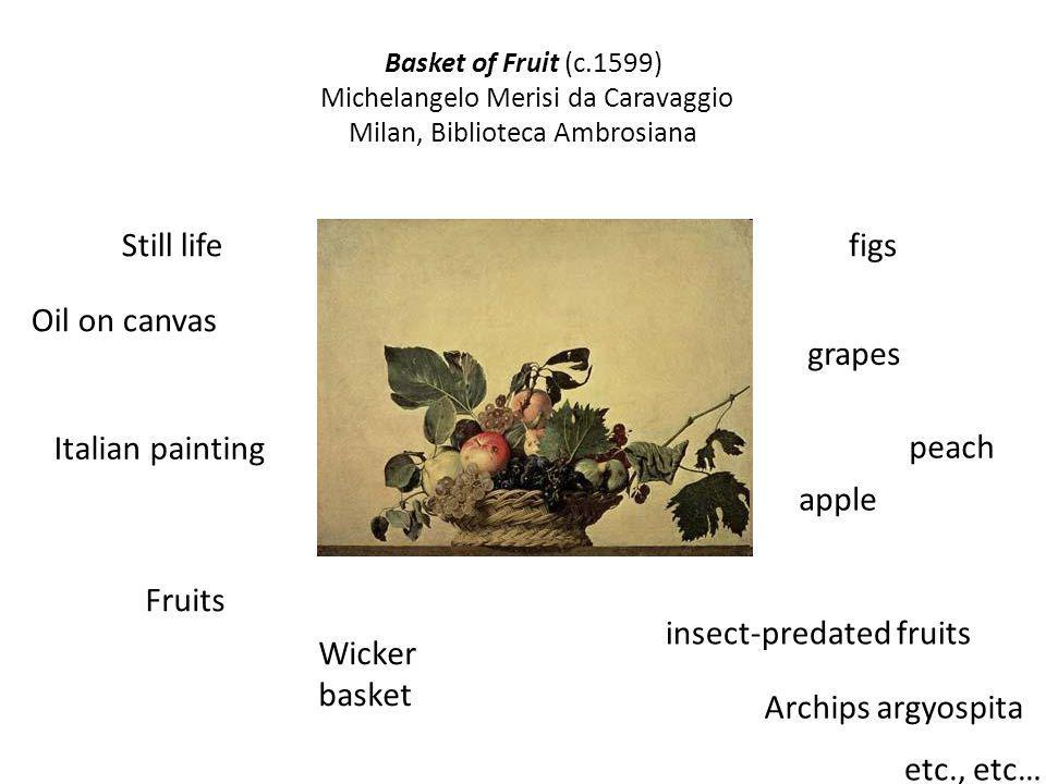 insect-predated fruits Wicker basket