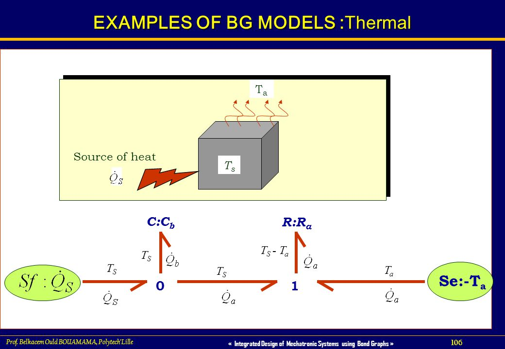 EXAMPLES OF BG MODELS :Thermal
