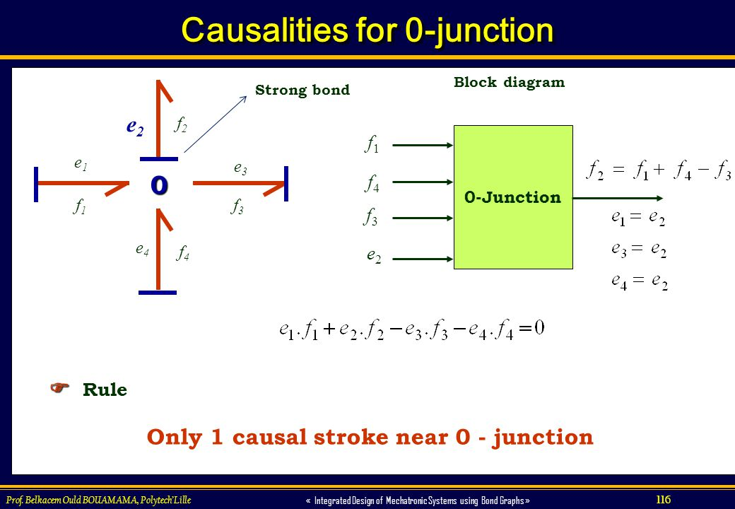 Causalities for 0-junction