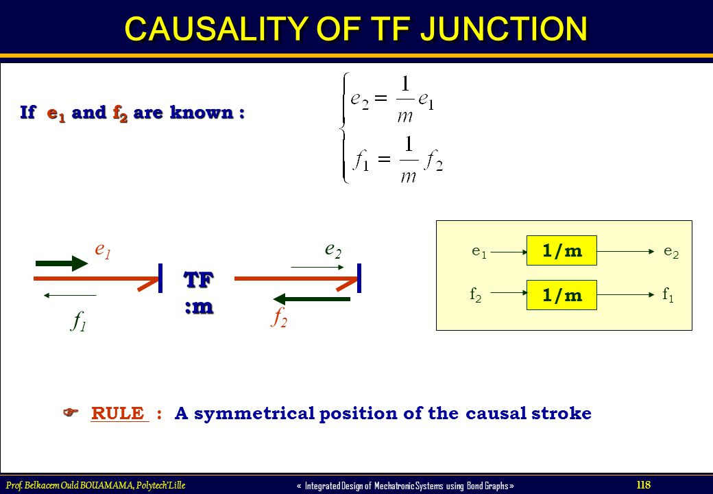 CAUSALITY OF TF JUNCTION