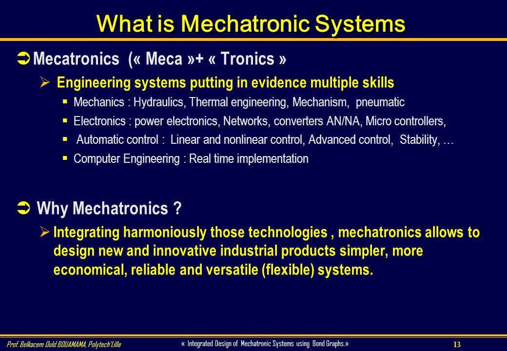 What is Mechatronic Systems