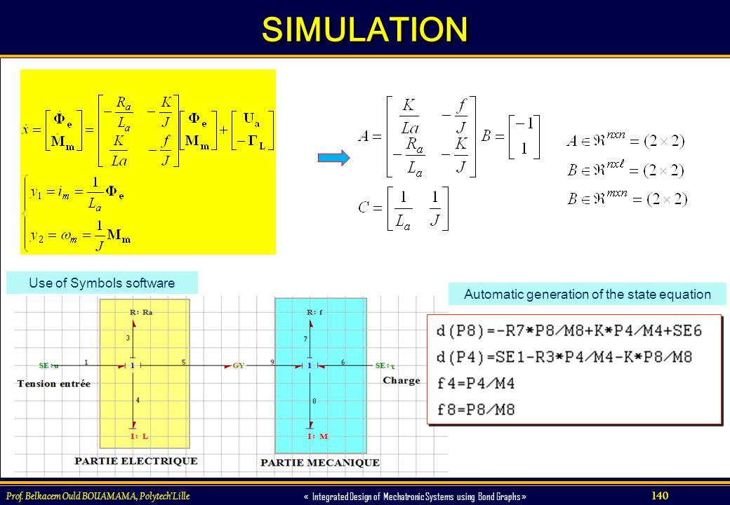 SIMULATION Use of Symbols software