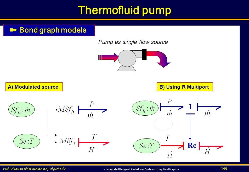 Pump as single flow source