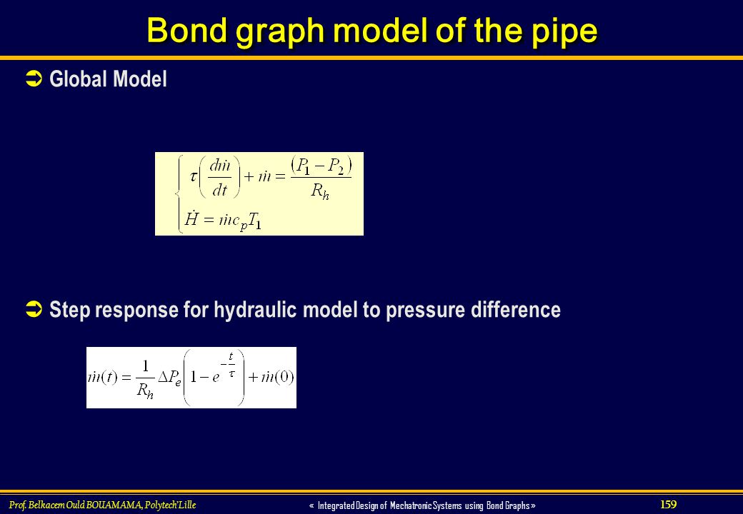 Bond graph model of the pipe