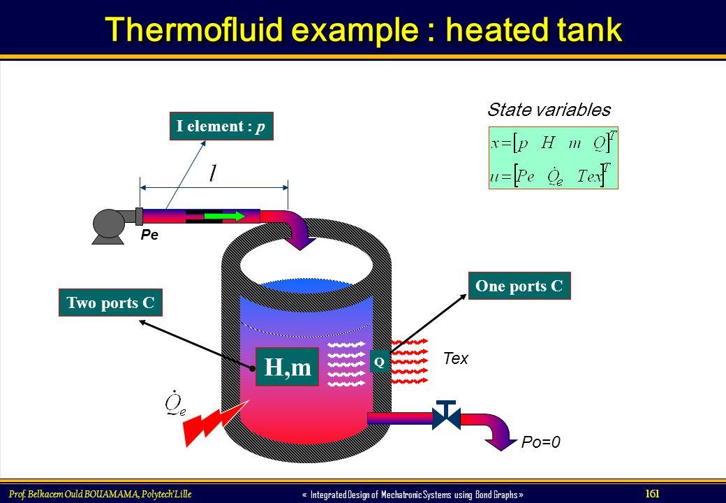 Thermofluid example : heated tank