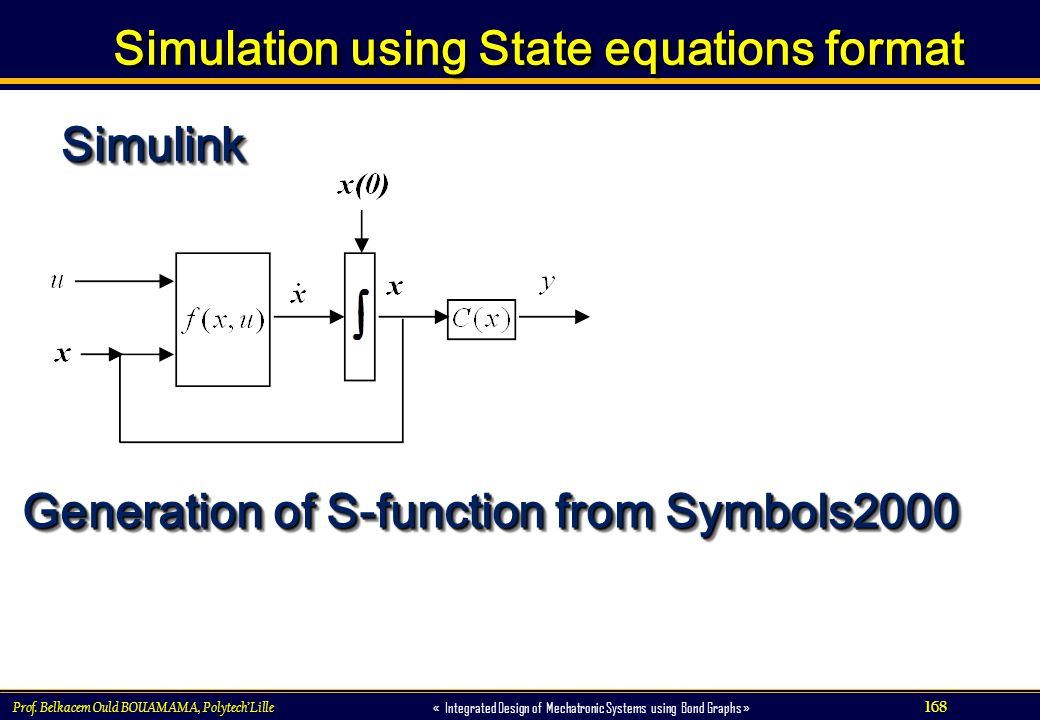 Simulation using State equations format
