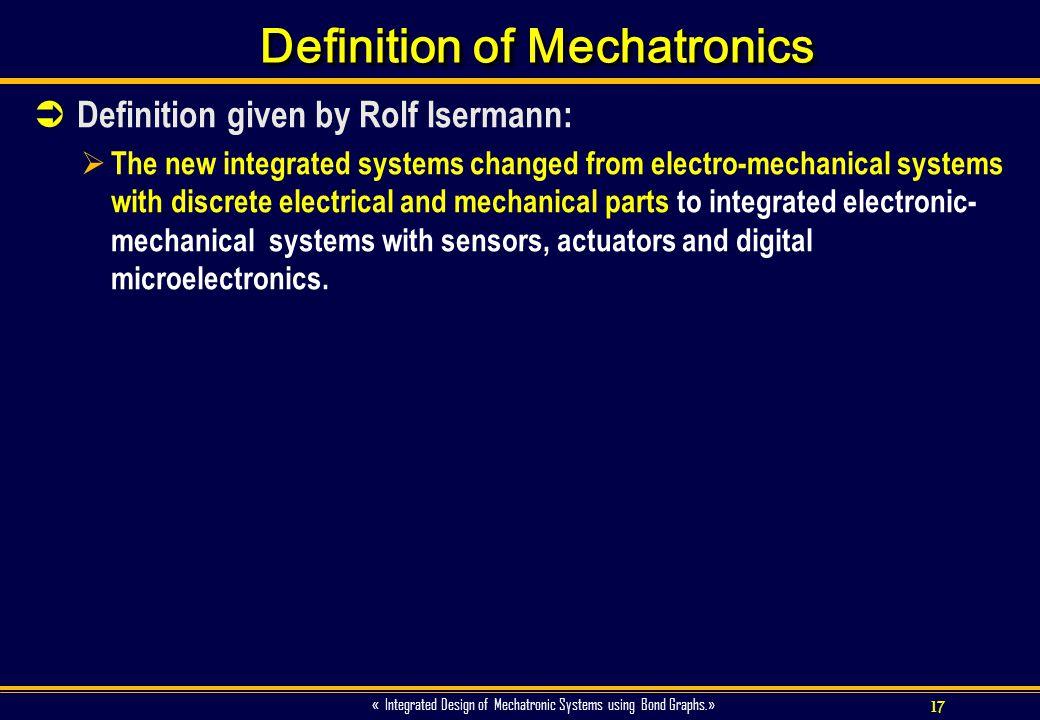 Definition of Mechatronics