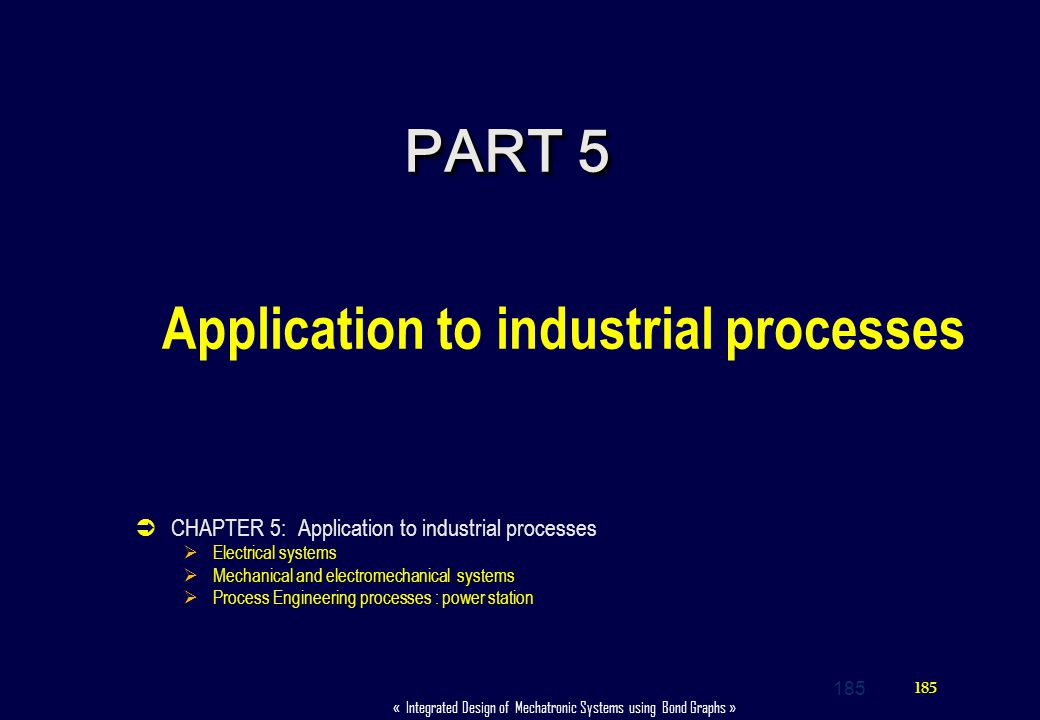 Application to industrial processes