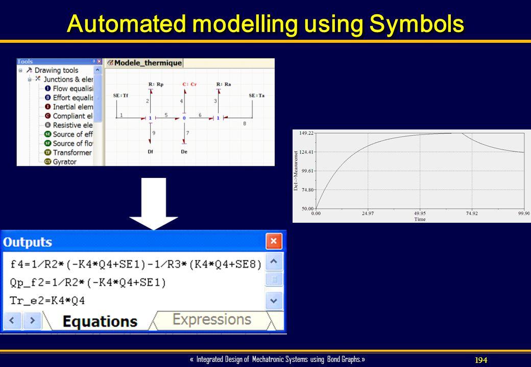 Automated modelling using Symbols