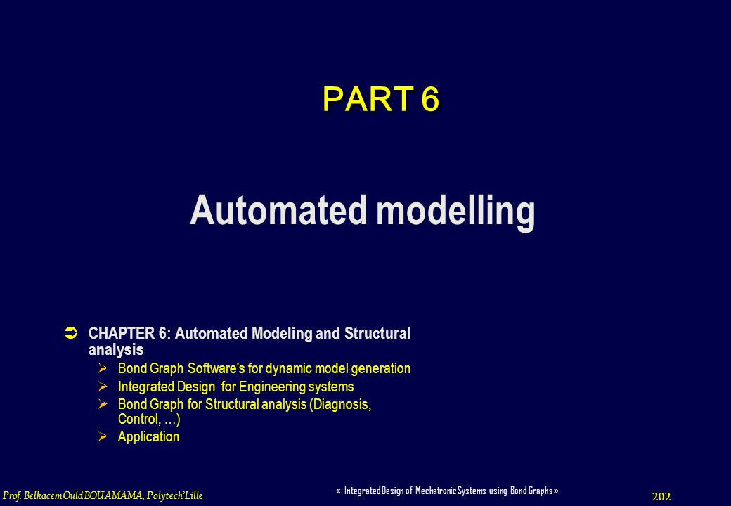 Automated modelling PART 6