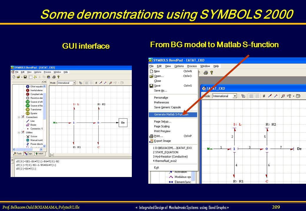 Some demonstrations using SYMBOLS 2000