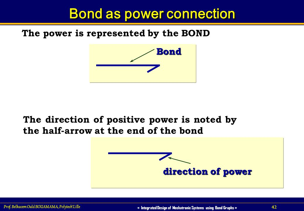 Bond as power connection