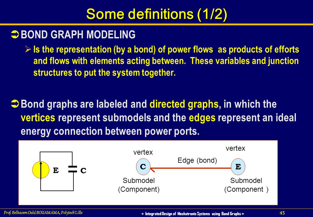Some definitions (1/2) BOND GRAPH MODELING