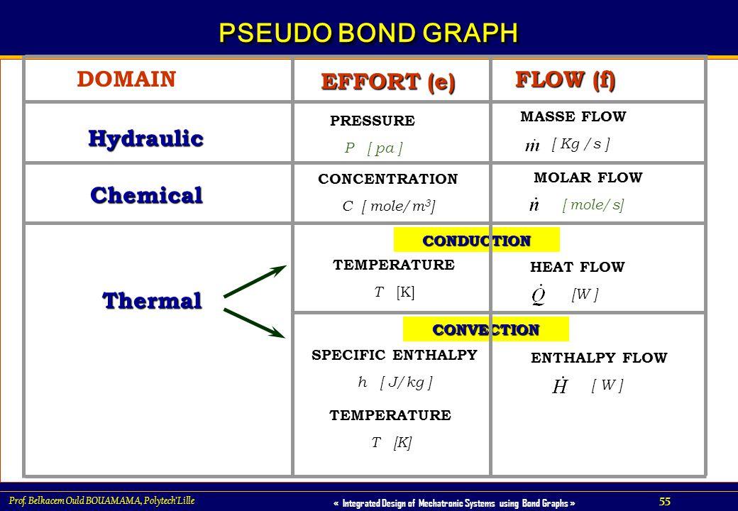 PSEUDO BOND GRAPH FLOW (f) EFFORT (e) DOMAIN Hydraulic Chemical