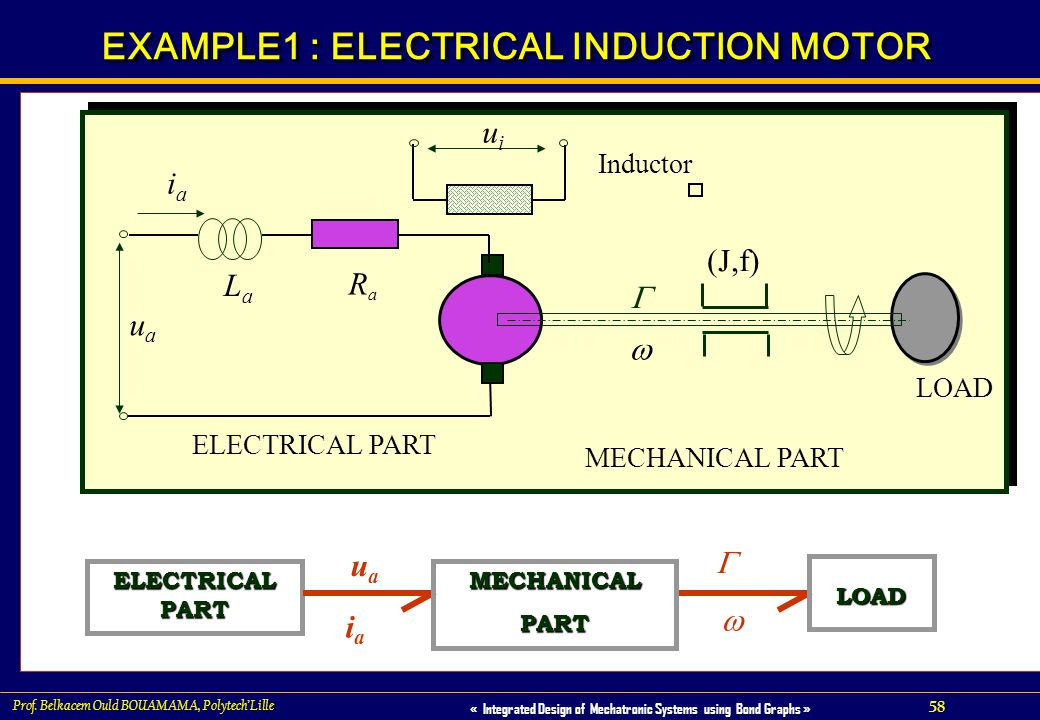EXAMPLE1 : ELECTRICAL INDUCTION MOTOR