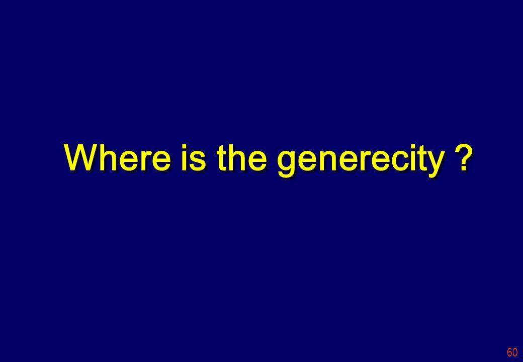 Where is the generecity