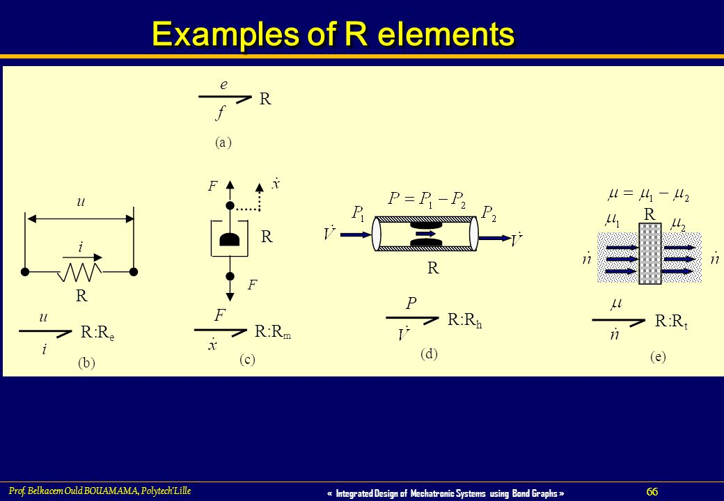 Examples of R elements Prof. Belkacem Ould BOUAMAMA, Polytech'Lille