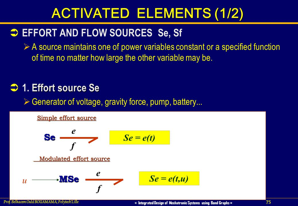 ACTIVATED ELEMENTS (1/2)